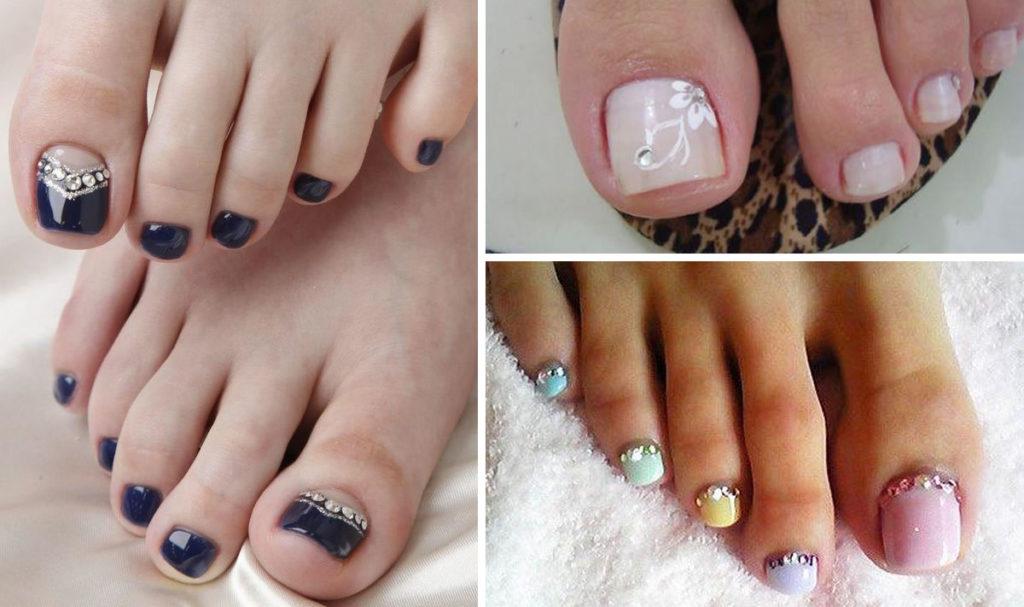 Unhas decoradas simples para os pés