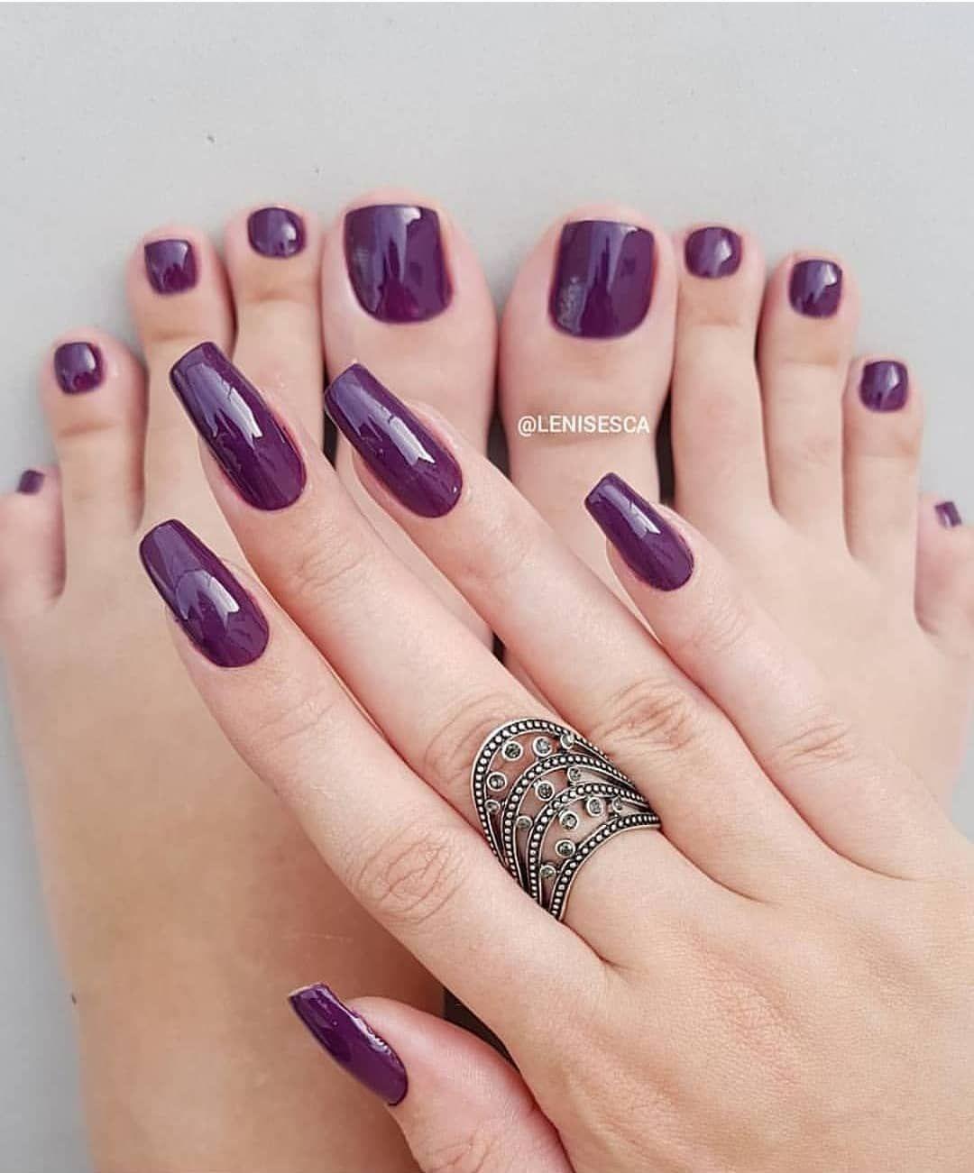 Unhas pé e mão Mesma cor