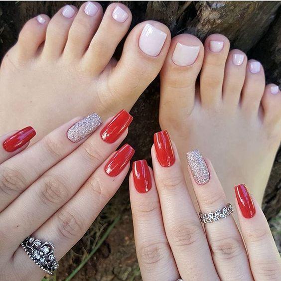 Unhas pé e mão Simples